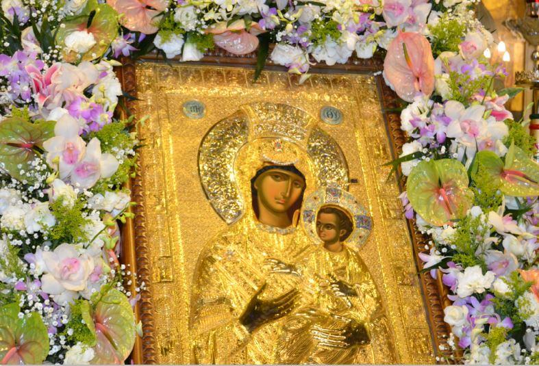 Α copy of the miraculous Panagia Vimatarissa icon from the Monastery of Vatopaidi on Mount Athos  to the Greek Orthodox Metropolis of Atlanta